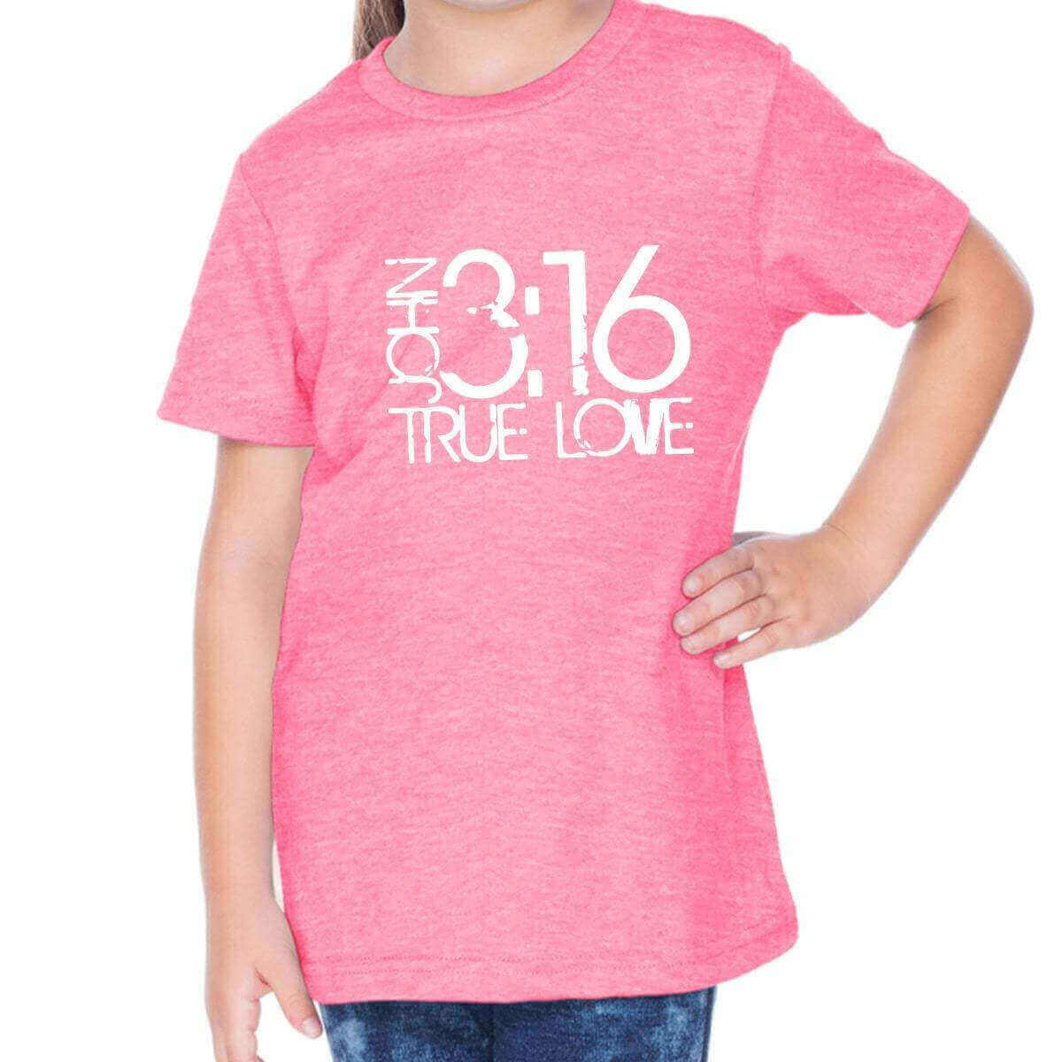 John 3:16 True Love Toddler Christian Short Sleeve T Shirt