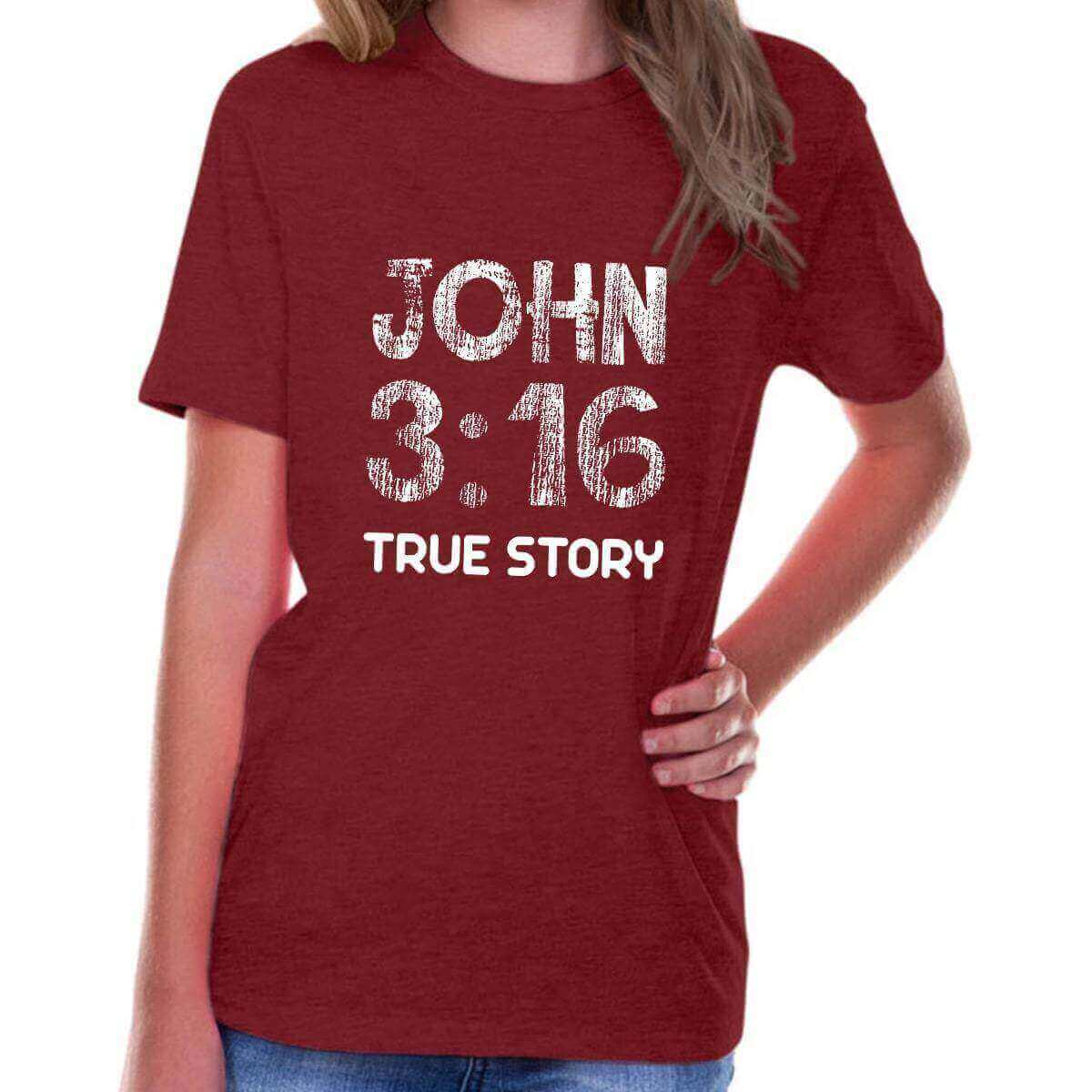 John 3:16 True Story Youth Jersey Short Sleeve Christian T Shirt