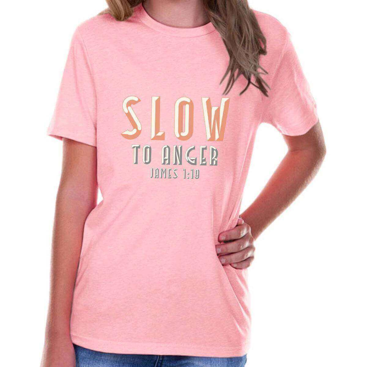Slow To Anger Youth Jersey Short Sleeve Christian T Shirt