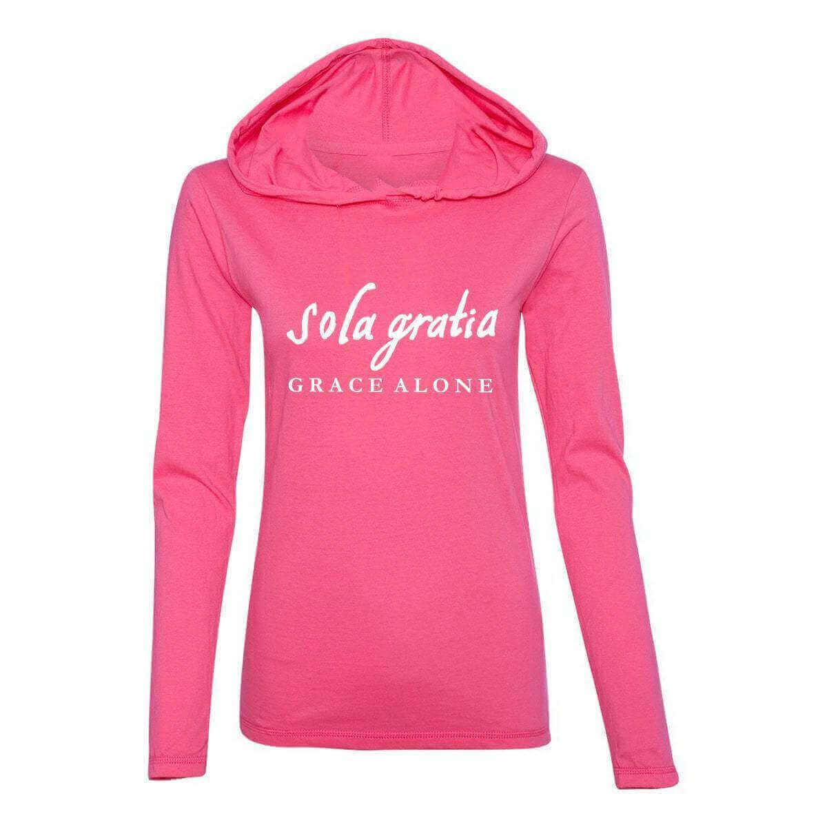 Sola Gratia Grace Alone Women's Christian Fitted T-Shirt Hoodie