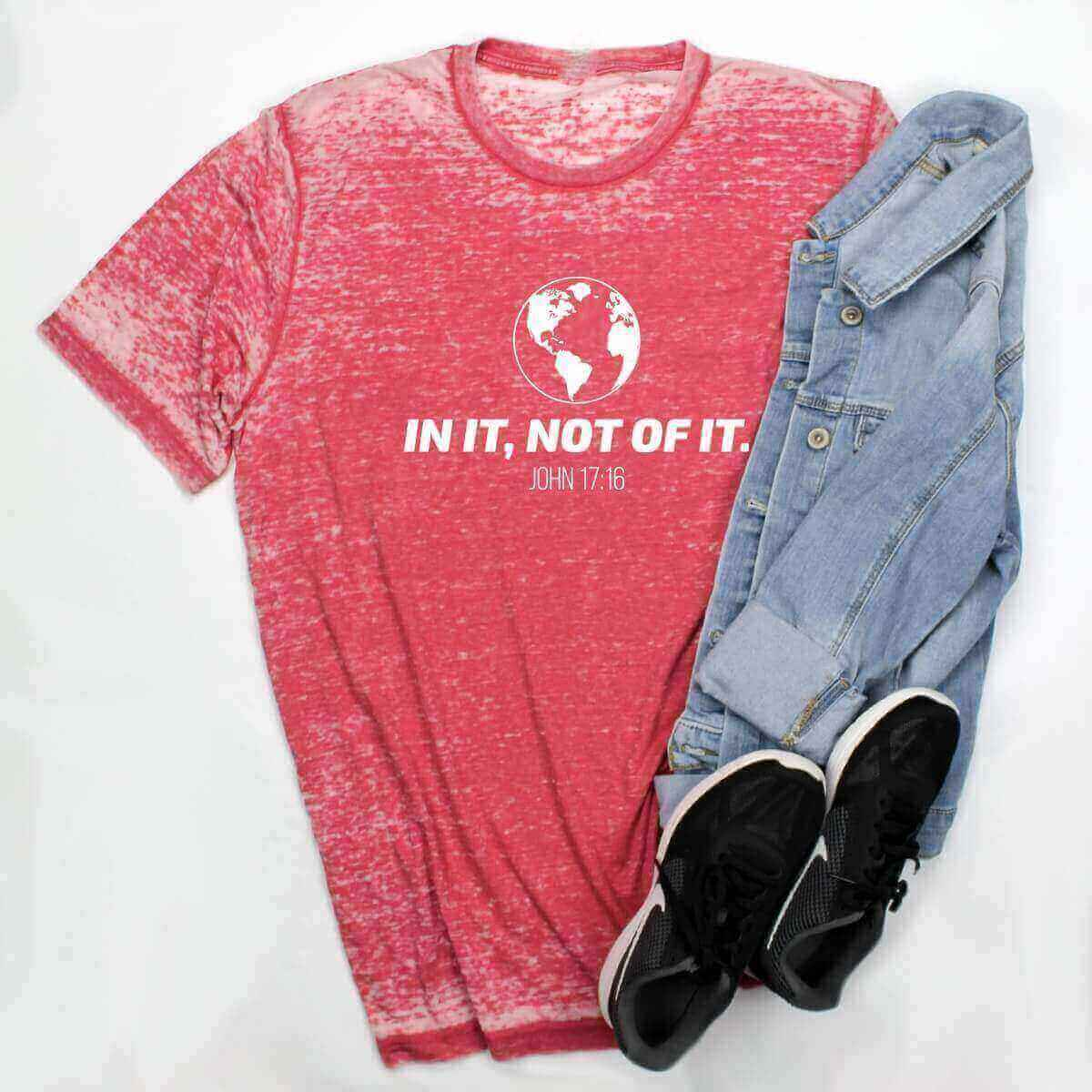 In It, Not Of It Acid Wash Christian Unisex T-Shirt